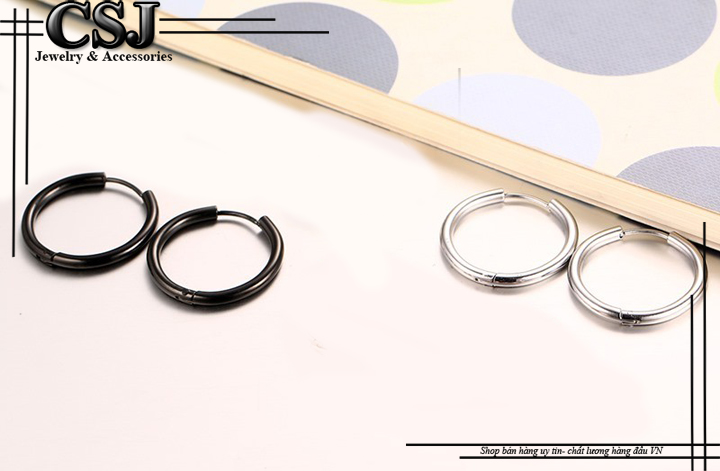bông tai inox nam khoen kiểu sơn tùng , bán bông tai inox