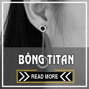 [ Bông tai inox - titan CSJ ] mẫu mới đẹp giá rẻ