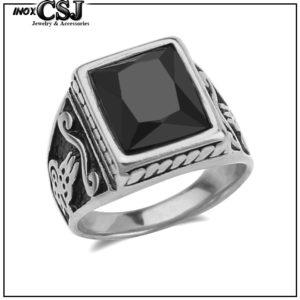 nhẫn nam đá đen đẹp giá rẻ, nhẫn nam inox đôc cao cấp phong thủy,