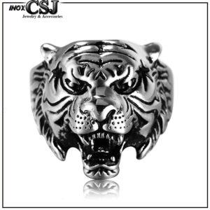 nhẫn nam inox đầu con hổ cực tiger cực ngầu độc giá rẻ