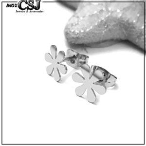 CSJ chuyên bán bông tai nữ inox hoa 6 cánh , bông tai nữ inox hàn quốc đẹp giá rẻ,
