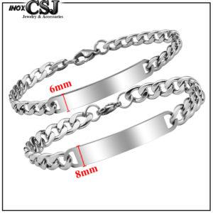lắc tay cặp đôi inox, vòng tay inox cặp đôi đẹp giá rẻ ý nghĩa