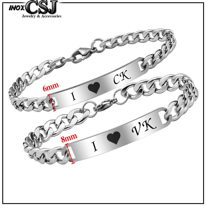 CSJ chuyên bán lắc tay cặp, vòng tay đôi inox CK VK đẹp ý nghĩa không đen tại HCM