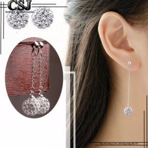 bông tai nữ inox tòn ten trái châu hàn quốc cực xinh giá tốt tại CSJ