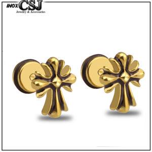 bông tai nam inox hình thánh giá độc đáo đầy cá tính giá rẻ tại CSJ