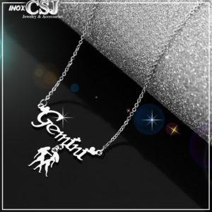 dây chuyền inox cung hoàng đạo song tử gemini đẹp giá rẻ tại CSJ
