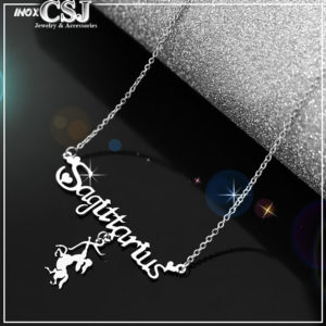 dây chuyền, vòng cổ inox cung hoàng đạo nhân mã cực đẹp không đen tại CSJ