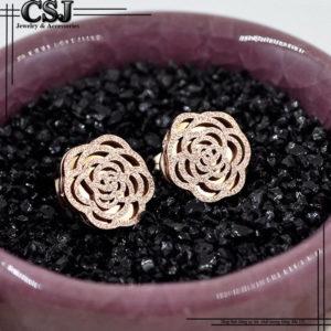 Công Sang CSJ chuyên bán bỏ sỉ Bông tai titan bông hoa phun cát mạ vàng thời trang Hàn Quốc gái sỉ rẻ nhất TPHCM,
