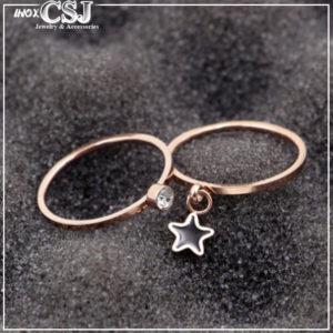 CSJ chuyên bán bỏ sỉ nhẫn titan giá rẻ nhất HCM,Nhẫn titan set 2 chiếc mạ vàng hồng cực đẹp giá rẻ