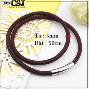 CSJ chuyên bán sỉ bỏ sỉ dây chuyền dù thái màu nâu đen khóa inox cao cấp đẹp giá rẻ tại CSJ , cung cấp dây đen dành cho nam xin đẹp giá rẻ,