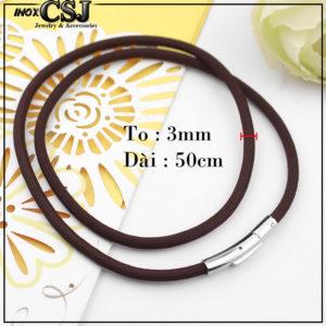 Trang sức inox CSJ chuyên bán sỉ bỏ sỉ dây chuyền dù thái 3ly màu nâu đen khóa inox cao cấp BH vĩnh viễn giá rẻ nhất thị trường, vòng cổ màu nâu hàng xin giá rẻ ,