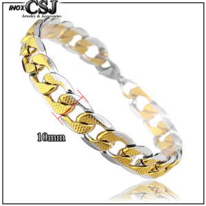 Vòng tay inox nam mạ vàng thời trang Hàn Quốc , lắc tay nam inox cao cấp không đen giá rẻ mạ vàng,