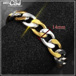 Công Sang chuyên bán bỏ sỉ lắc tay nam inox lặc mạ vàng thời trang Hàn Quốc, Vòng tay nam inox cao cấp không đen giá rẻ HCM