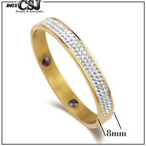 CSJ chuyên bán sỉ vòng tay titan bảng to 3 hàng xoàn đẹp giá sỉ rẻ nhất HCM> Cung cấp sỉ trang sức , vòng tay titan mạ vàng thời trang hàn Quốc
