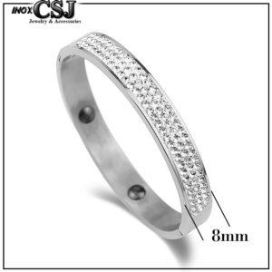 Trang sức titan CSJ chuyên bán sỉ vòng tay titan đính đá , đinh xoàn cực đẹp phong cách hàn Quốc giá sỉ rẻ nhất thị trường HCM,