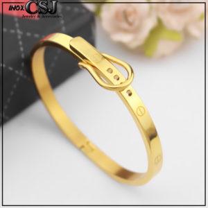 Vòng tay titan dây thắt lưng màu vàng tươi, vòng tay dây nịt cao cấp không đen