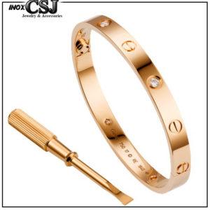 trang sức titan Cartier bán bỏ sỉ vòng tay titan cartier mạ vàng hồng đẹp giá rẻ tại HCM, tại Hà Nội.