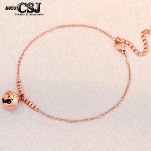 lắc tay nữ titan chuông doremon màu vàng hồng thời trang Hàn Quốc