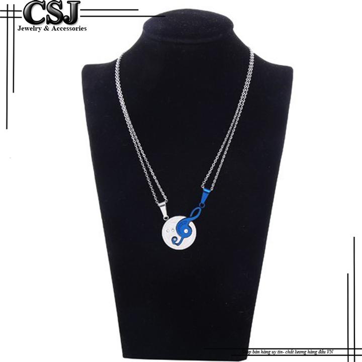 CSJ chuyên bán sỉ các mẫu dây chuyền cặp đôi, vòng cổ cặp inox hình nốt nhạc đẹp ý nghĩa không đen giá rẻ tại HCM.