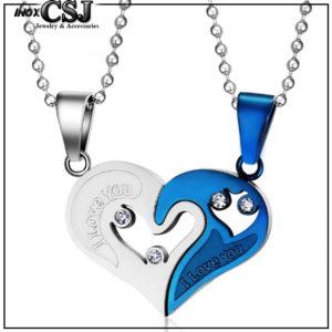 Dây chuyền cặp inox trái tim ghép, vòng cổ cặp đôi trái tim đẹp ý nghĩa không đen