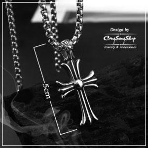 mặt dây chuyền thánh giá inox chrome