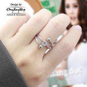 nhẫn nữ inox thời trang