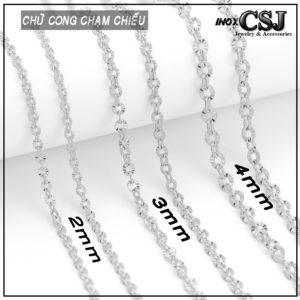 CSJ nhà cung cấp bán bỏ sỉ trang sức tại HCm, Dây chuyền nữ inox kiểu chữ cong, vòng cổ nữ inox đẹp không đen giá rẻ HCM hà nội
