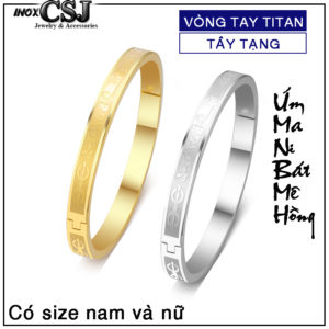 Vòng tay titan tây tàng chú um mani padme hum giá rẻ, trang sức phật giáo