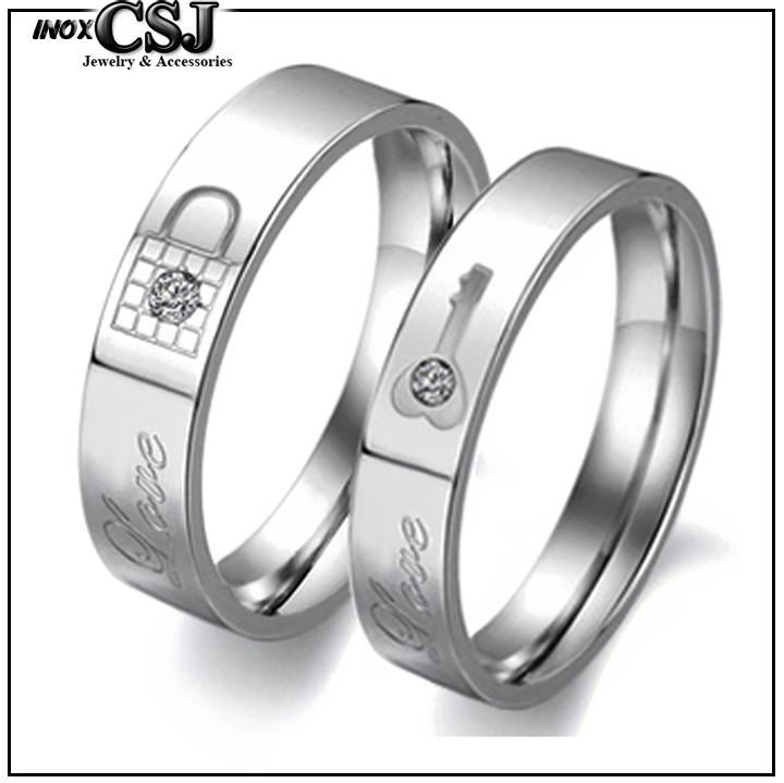 trang sức cặp đôi inox CSJ nơi chuyên bán các mẫu nhẫn cặp inox nhẫn đôi inox hình ổ khóa chìa khóa đẹp giá rẻ quà tặng ý nghĩa