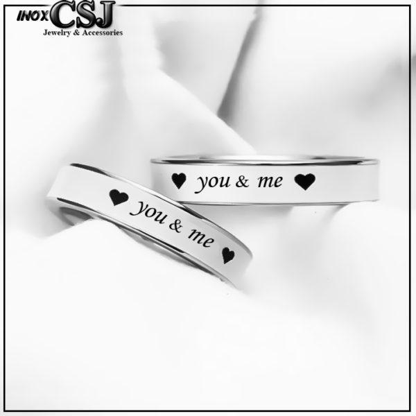 trang sức cặp đôi inox CSj chuyên cung cấp sỉ bán sỉ nhẫn cặp you and me, nhẫn đôi you & me inox cao cấp