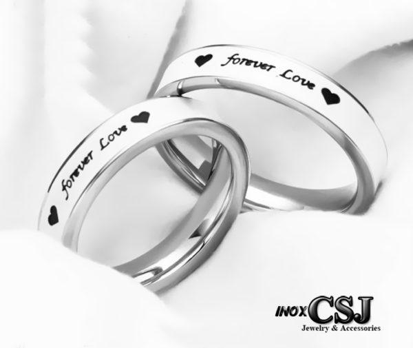 trang sức inox cặp đôi forever love, nhẫn cặp forever love inox cap cấp, nhẫn đôi tình nhãn forever love