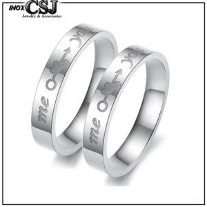 CSJ nơi chuyên bán nhẫn cặp me you inox, nhẫn đôi inox you and me , trang sức cặp inox đẹp giá rẻ ý nghĩa