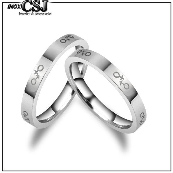 nhẫn cặp inox ký hiệu nam nữ, nhẫn đôi inox đẹp cao cấp giá rẻ HCM, trang sức inox cặp đôi