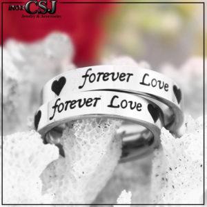 Công Sang chuyên bán sỉ nhẫn cặp forever love khắc đen, nhẫn đôi inox cao cấp, nhẫn cặp titan đẹp giá rẻ HCM