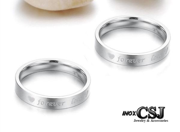 trang sức inox cặp đôi CSJ chuyên bán sỉ nhẫn cặp forever love inox , nhẫn đôi inox thời trang đẹp giá rẻ ý nghĩa