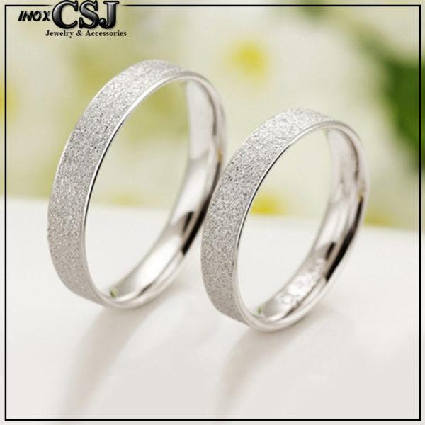 trang sức inox cặp đôi, nhẫn cặp phun cát inox cao cấp, nhẫn đôi inox đẹp ý nghĩa giá rẻ không đen HCM