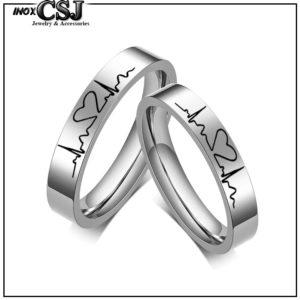Trang sức inox cặp đôi tình nhẫn CSJ nơi bán các mẫu nhẫn inox cặp nhịp tim, nhẫn đôi nhịp tim đẹp giá rẻ HCM