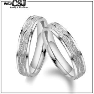 trang sức đôi CSJ chuyên bán nhẫn cặp phun cát inox cao cấp, nhẫn đôi inox đẹp ý nghĩa giá rẻ