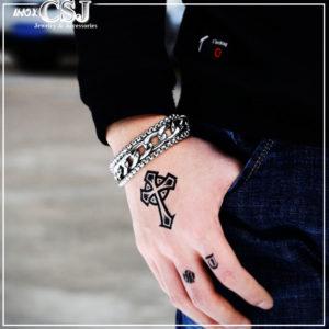 Lắc tay inox nam phong cách hàn quốc, vòng tay nam thép không gỉ đẹp độc cá tính