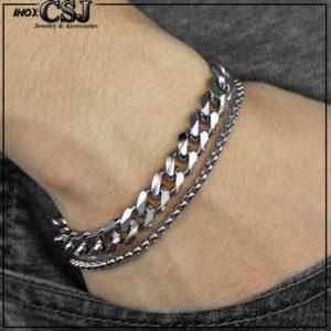lắc tay nam inox không đen, vòng tay inox nam thời trang Hàn Quốc cao cấp đẹp giá rẻ