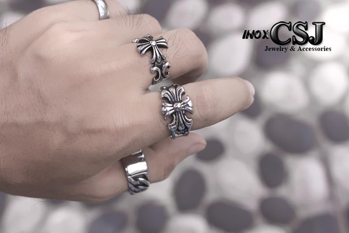 Trang sức inox nam CSJ chuyên bán nhẫn nam inox chrome hearts độc đáo cực đẹp, nhẫn nam phong cách thời trang chrome hearts cực cá tính giá rẻ tại HCM