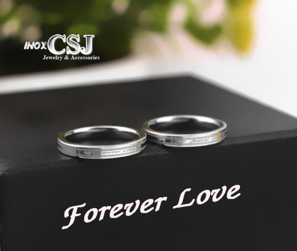 nhẫn cặp forever love, nhẫn đôi inox forever love, nơi bán nhẫn tình nhân đẹp giá rẻ HCm