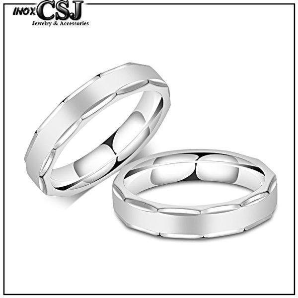 CSJ chuyên bán nhẫn cặp inox, nhẫn đôi tình nhân bằng inox cao cấp không đen giá rẻ