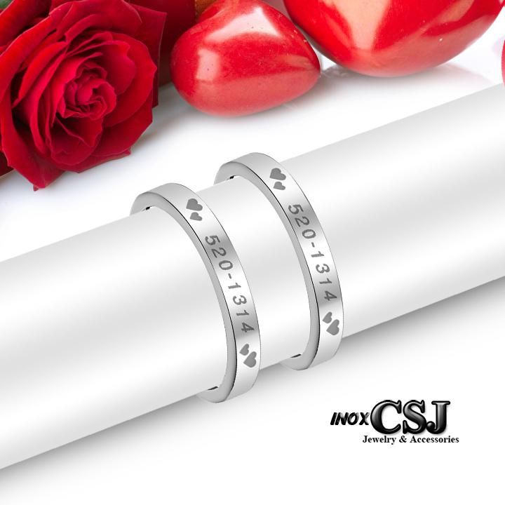 Công sang bán nhẫn đôi 520-1314, nhẫn cặp 520-1314 đẹp giá rẻ