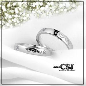 nhẫn cặp chữ love, nhẫn đôi tình nhẫn chữ love inox cao cấp , trang sức cặp đôi inox đẹp giá rẻ