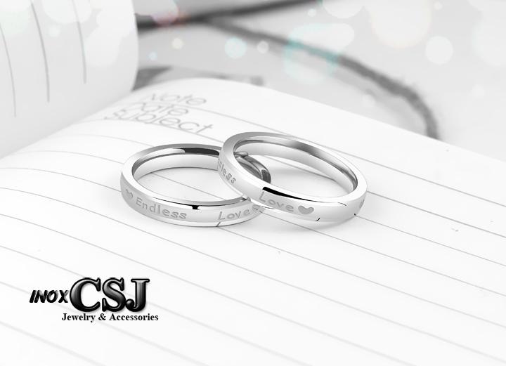 Nhẫn cặp inox endless love, nơi bán nhẫn cặp đôi tình nhân inox đẹp uy tín tại HCM