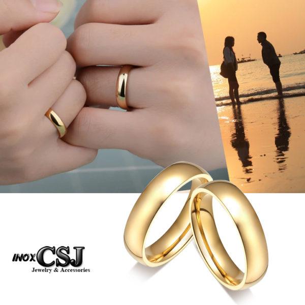 nhẫn inox cặp đôi mạ vàng bảng mo tròn đẹp ý nghĩa giá rẻ