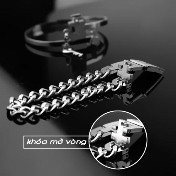 lắc vòng tay cặp đôi titan ô chìa khóa thời trang tình nhân , quà tặng ý nghĩa