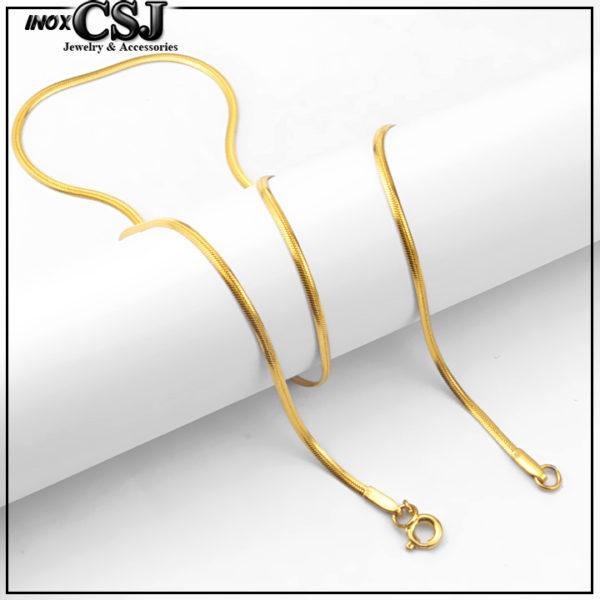 vòng cổ nữ sợi mì mạ vàng, dây chuyền nữ mạ vàng inox cao cấp không đen giá rẻ nhất HCM