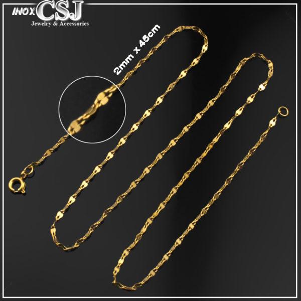 CSJ nơi bán mẫu dây chuyền dành cho nữ bằng inox cao cấp mạ vàng, vòng cổ nữ xi vàng nhỏ xinh không đen giá rẻ